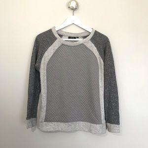 Multi Texture Grey Color Block Sweater 🖤 Size XS